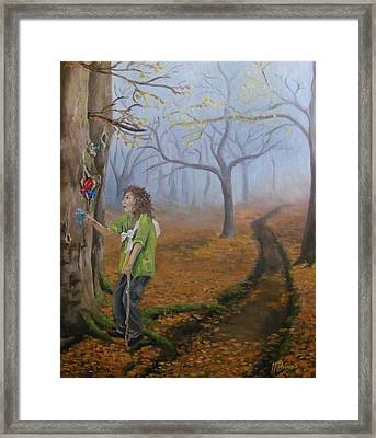 Thirsty Traveler Framed Print by Tersia Brooks