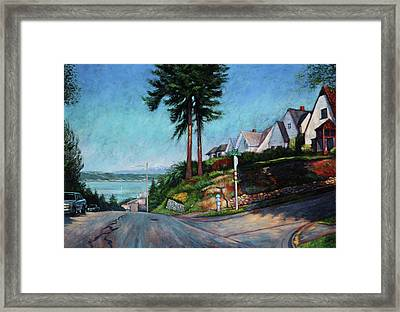 Framed Print featuring the painting Thirtieth And Cedar  by Charles Munn