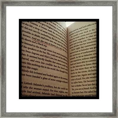 This Author Has A Way With Words Framed Print