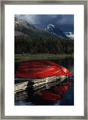 This Boathouse Has Catered To Anglers Framed Print by Raymond Gehman