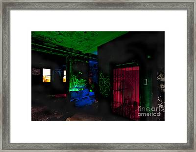This Elevator Only Goes Down Framed Print by Keith Kapple