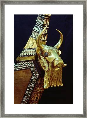 This Gilded Bull Originates Framed Print by Lynn Abercrombie