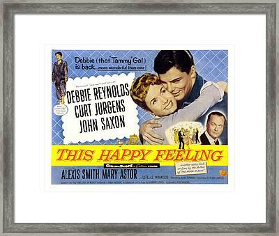 This Happy Feeling, Debbie Reynolds Framed Print by Everett