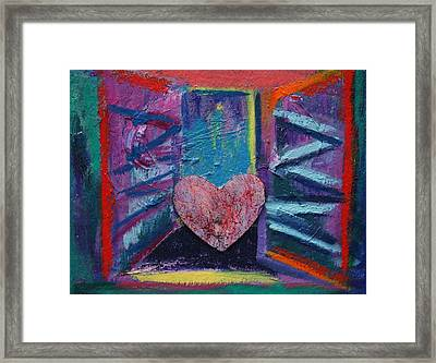 This Heart Wants Out Framed Print by Karin Eisermann