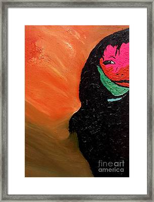 Framed Print featuring the painting This Is It by Ayasha Loya