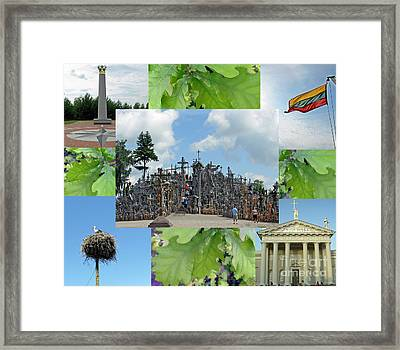 Framed Print featuring the photograph This Is Lietuva- Lithuania by Ausra Huntington nee Paulauskaite