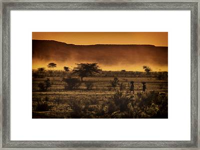 This Is Namibia No. 12 - Walking The Desert Framed Print by Paul W Sharpe Aka Wizard of Wonders