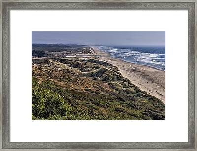 This Is Oregon State No.24 - Heceta Beach Misty Shores Framed Print by Paul W Sharpe Aka Wizard of Wonders