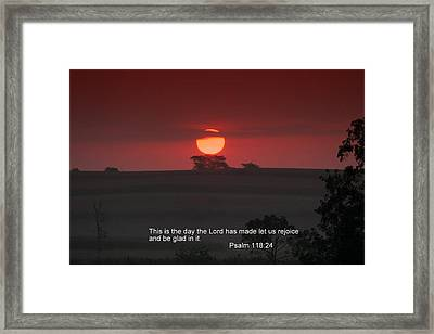 This Is The Day Framed Print by Rick Rauzi