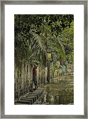 This Is The Philippines No.57 - Guess Im Gonna Get Wet Feet Framed Print by Paul W Sharpe Aka Wizard of Wonders
