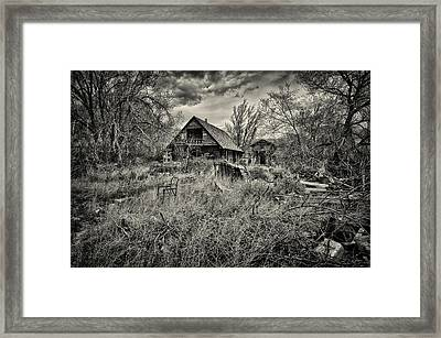 This Is Utah No. 23 - The House With Bottle Walls Framed Print