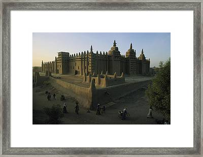 This Islamic Mosque Was Built Of Mud Framed Print by James L. Stanfield