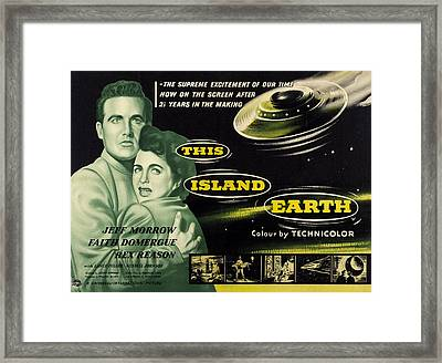 This Island Earth, L-r Rex Reason Framed Print by Everett