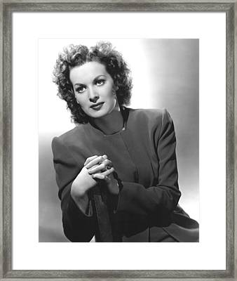 This Land Is Mine, Maureen Ohara, 1943 Framed Print by Everett