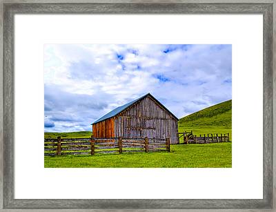 This Old Barn Framed Print by Jen TenBarge