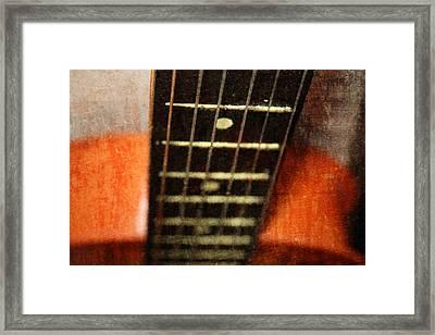 This Old Guitar Framed Print by Martina Fagan