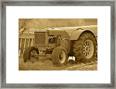 This Old Tractor Framed Print
