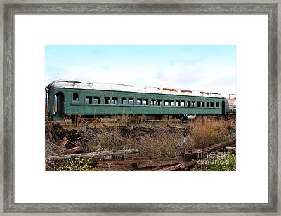 This Old Train Has Seen Better Days . 7d8994 Framed Print by Wingsdomain Art and Photography