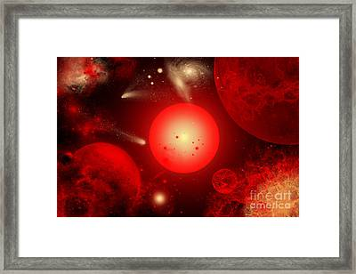 This Red Giant Star Is Much Older Framed Print by Mark Stevenson