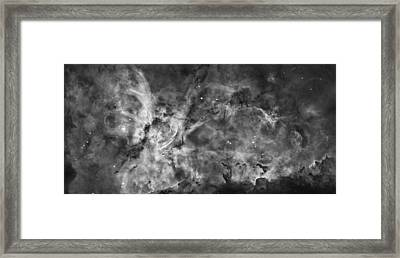 This View Of The Carina Nebula Framed Print by ESA and nASA