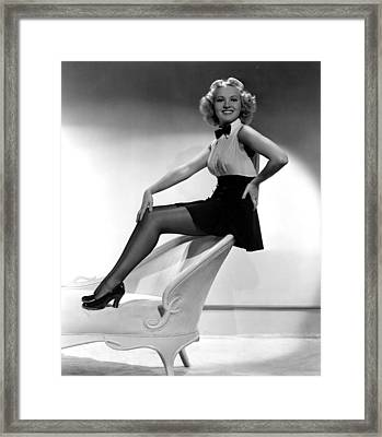 This Way Please, Betty Grable, 1937 Framed Print