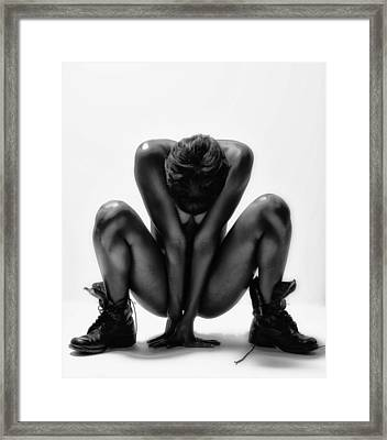 This Woman's Work Framed Print by Angelique Olin
