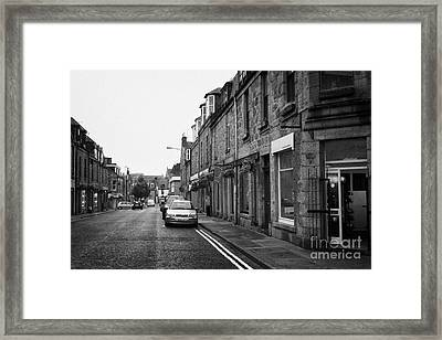 Thistle Street Rows Of Granite Houses And Shops Aberdeen Scotland Uk Framed Print by Joe Fox