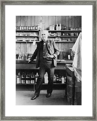 Thomas A. Edison 1847-1931, In His West Framed Print