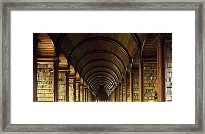 Thomas Burgh Library, Trinity College Framed Print by The Irish Image Collection