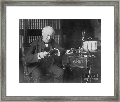 Thomas Edison, American Inventor Framed Print by Omikron