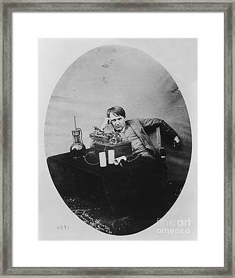 Thomas Edison, American Inventor Framed Print by U.S. Department of the Interior