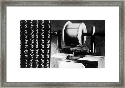 Thomas Edisons First Motion Picture Framed Print by Everett