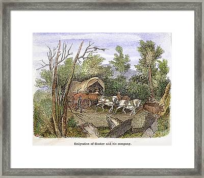 Thomas Hookers Migration Framed Print by Granger