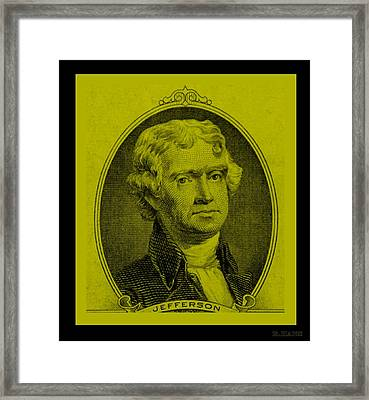 Thomas Jefferson In Yellow Framed Print by Rob Hans