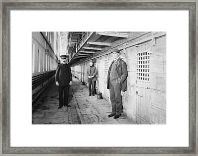Thomas Mott Osborne At Right, Warden Framed Print by Everett