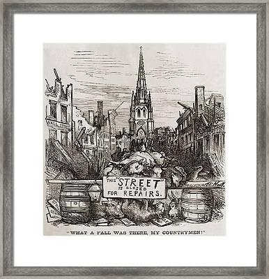 Thomas Nast Cartoon Of New York Citys Framed Print