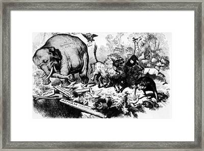 Thomas Nast Political Cartoon That Framed Print