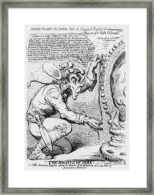 Thomas Paine Caricature Framed Print by Photo Researchers