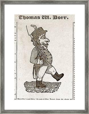 Thomas Wilson Dorr. Caricature Of Dorr Framed Print by Everett