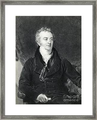 Thomas Young, English Polymath Framed Print by Photo Researchers