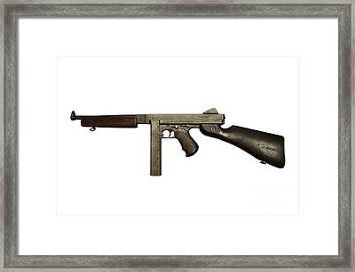Thompson Model M1a1 Submachine Gun Framed Print by Andrew Chittock