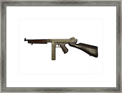 Thompson Model M1a1 Submachine Gun Framed Print by Andrew Chittock