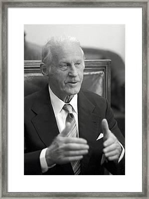 Thor Heyerdahl, Norwegian Ethnographer Framed Print by Ria Novosti