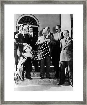 Thor Heyerdahl Presents An American Framed Print by Everett