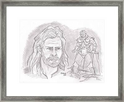 Thor Odinson- God Of Thunder Framed Print by Chris  DelVecchio