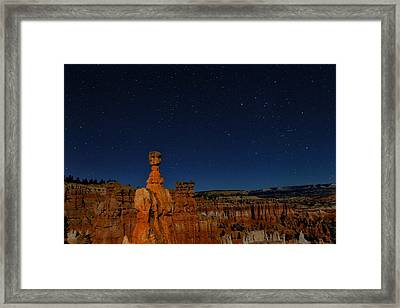 Thor's Hammer Under The Night Sky Framed Print by Don Smith