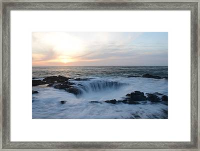 Thor's Well Framed Print by Craig Ratcliffe