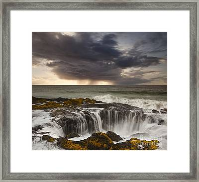 Thor's Well Framed Print