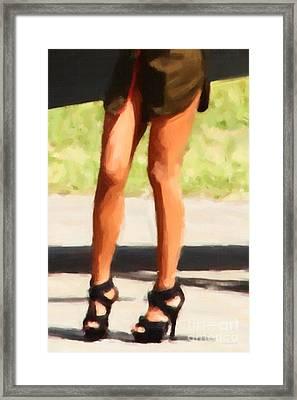 Those Legs Framed Print