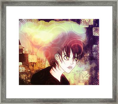 Thought Processes 1 Framed Print by Amanda Yauch
